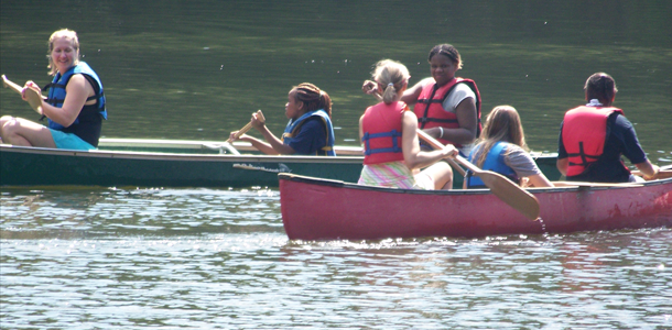Canoeing at Vision Quest